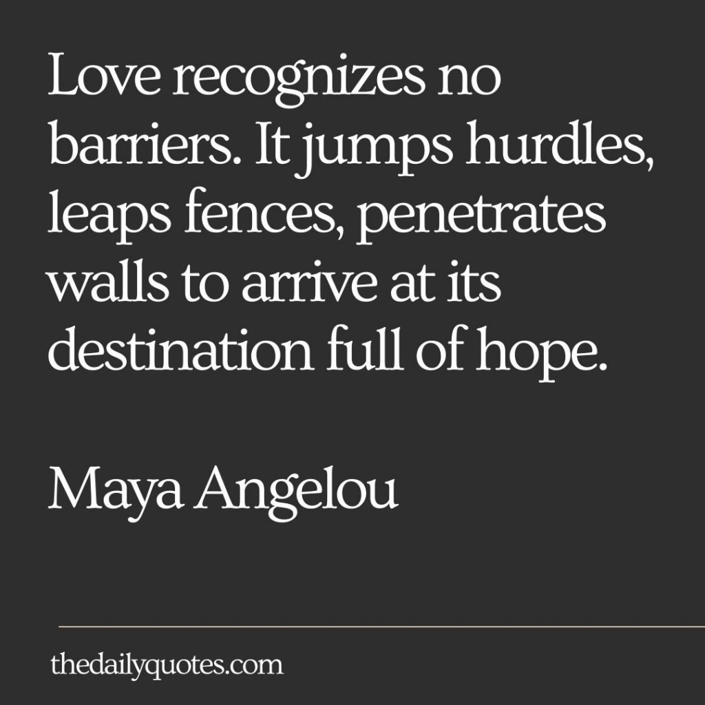 Love recognizes no barriers