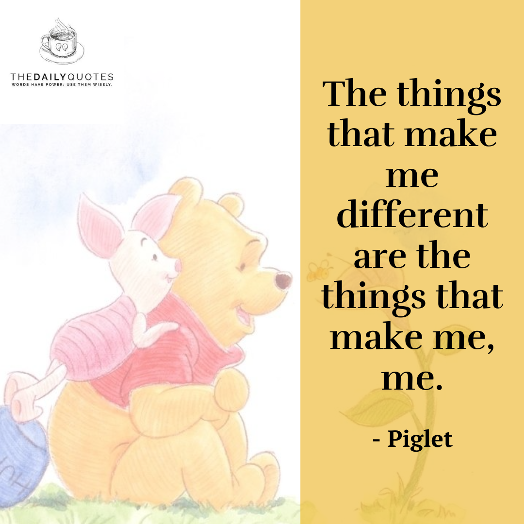 The things that make me different are the things that make me, me.