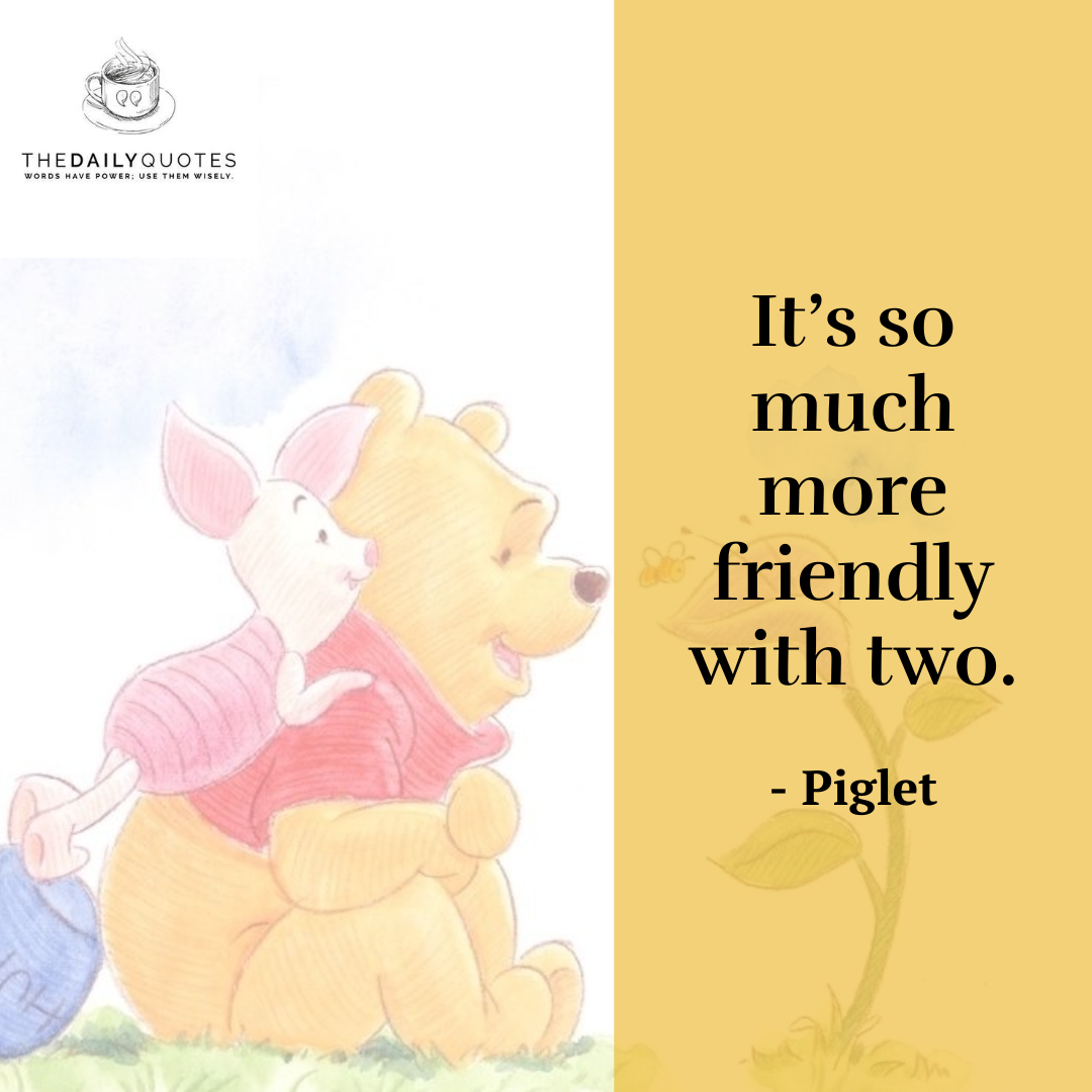 It's so much more friendly with two.