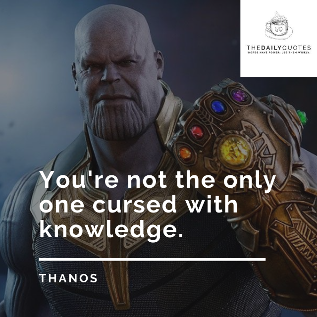 You're not the only one cursed with knowledge.