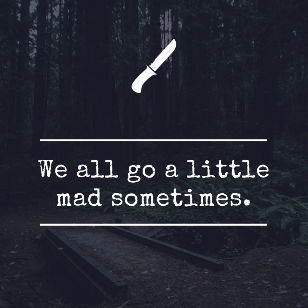 We all go a little mad sometimes.