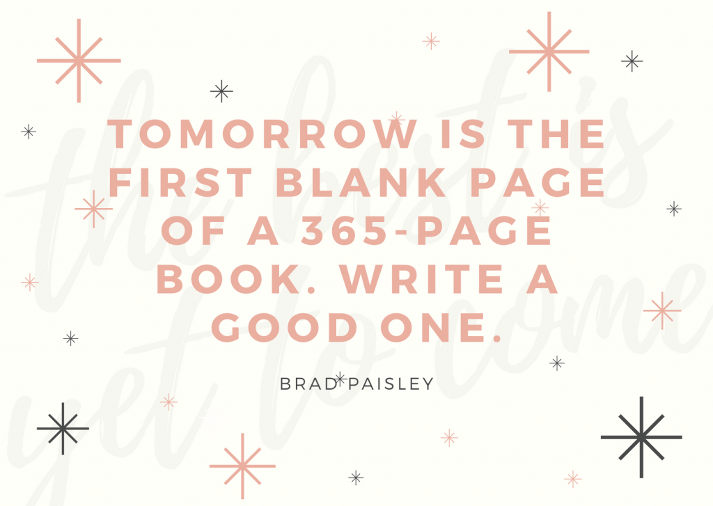 Tomorrow is the first blank page of a 365-page book. write a good one.