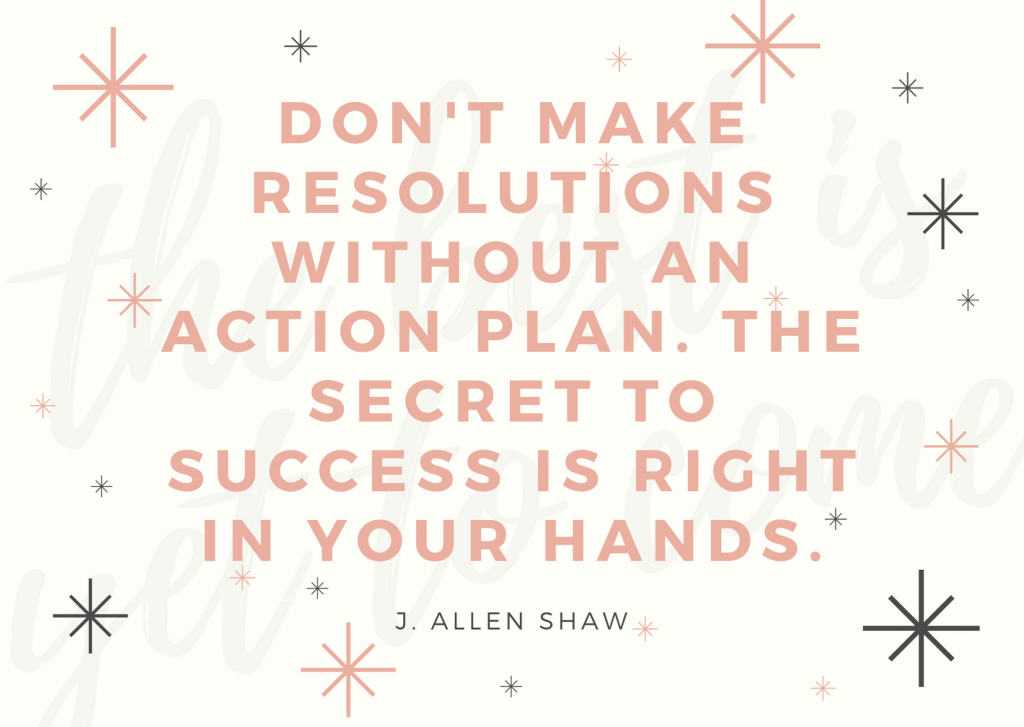 Don't make resolutions without an action plan. The secret to success is right in your hands.