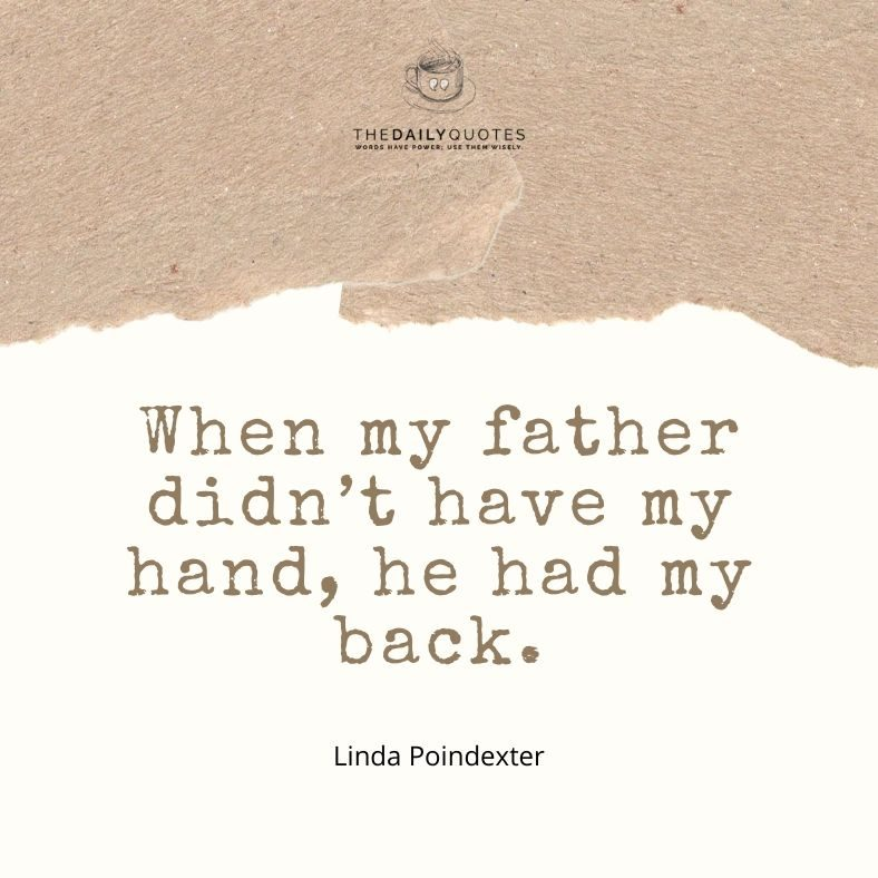 When my father didn't have my hand